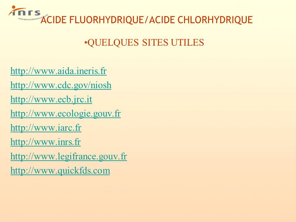 ACIDE FLUORHYDRIQUE/ACIDE CHLORHYDRIQUE