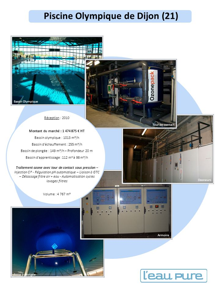 Des solutions adapt es pour vos installations ppt for Piscine olympique dijon