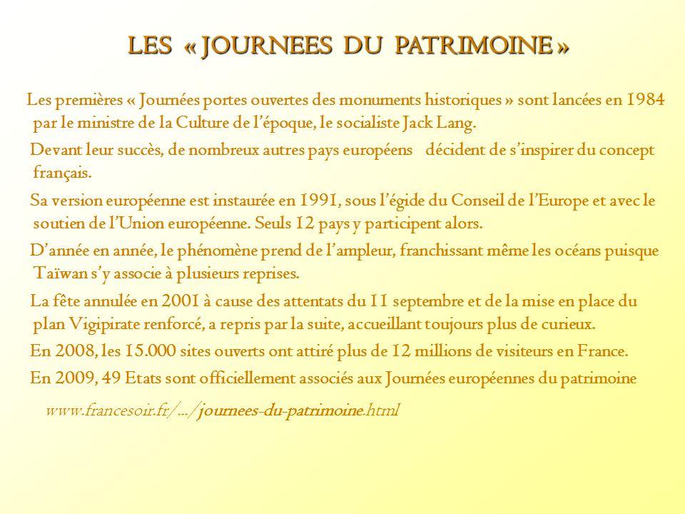 LES « JOURNEES DU PATRIMOINE »