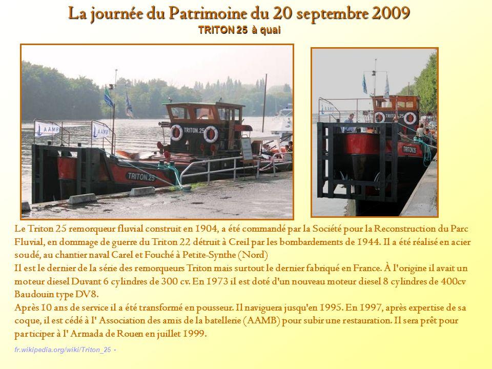 La journée du Patrimoine du 20 septembre 2009 TRITON 25 à quai