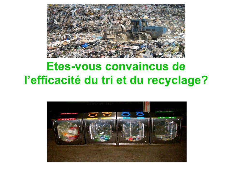 Etes-vous convaincus de l'efficacité du tri et du recyclage