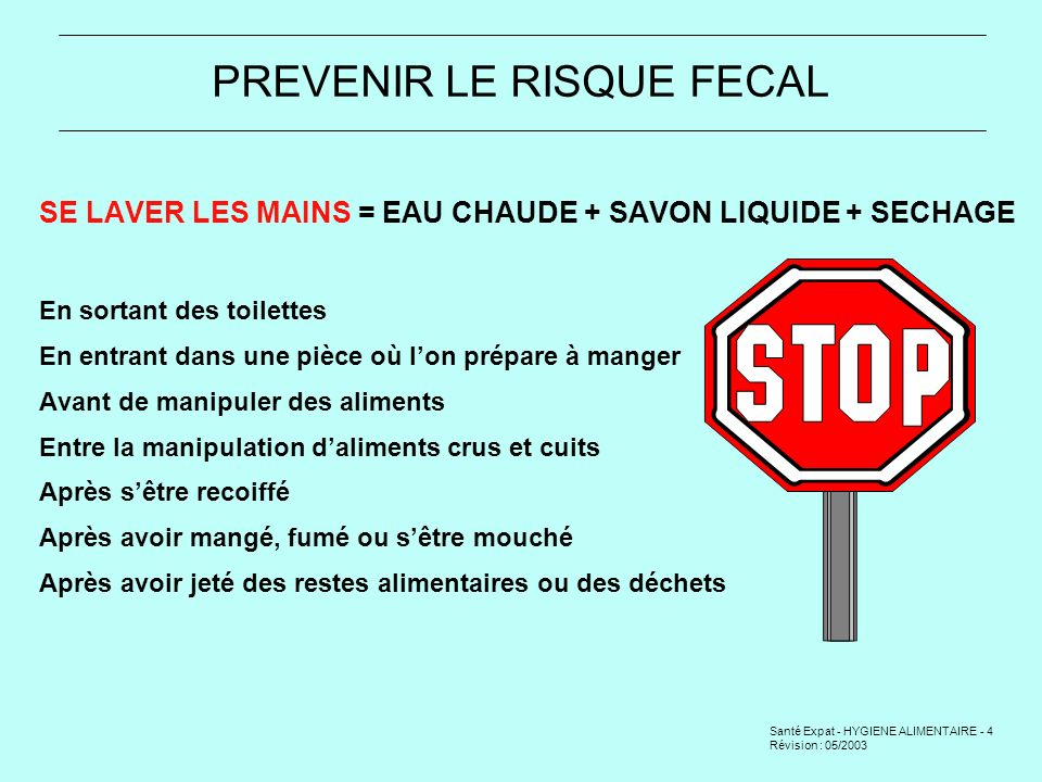 PREVENIR LE RISQUE FECAL