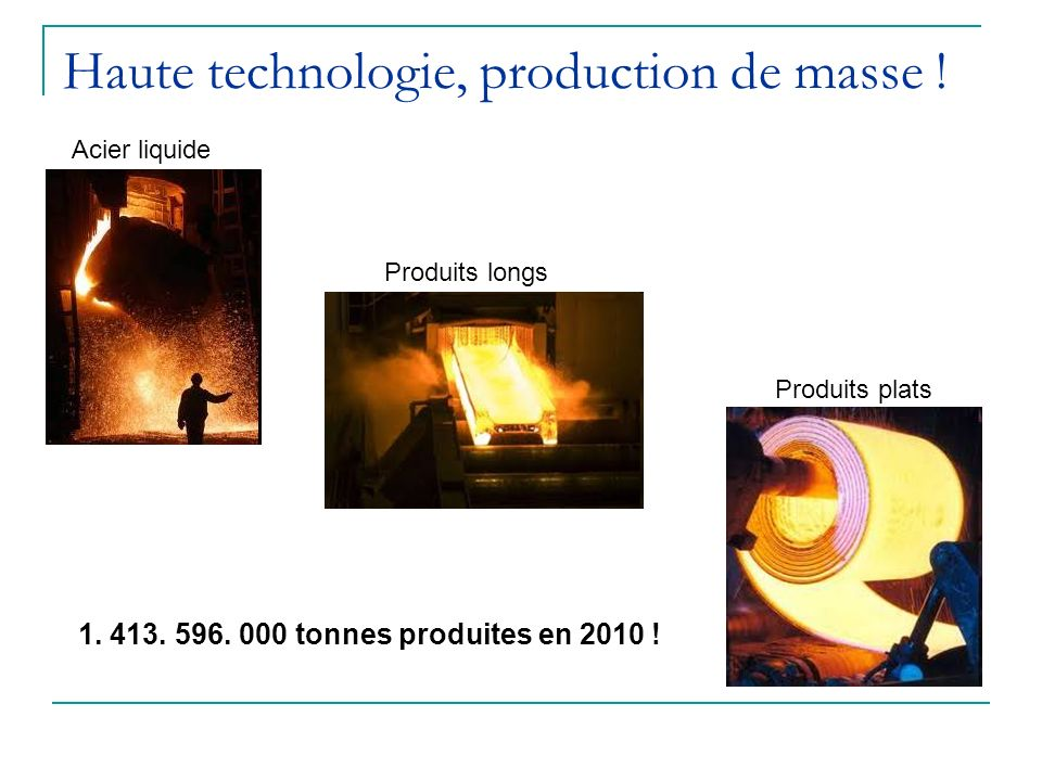 Haute technologie, production de masse !