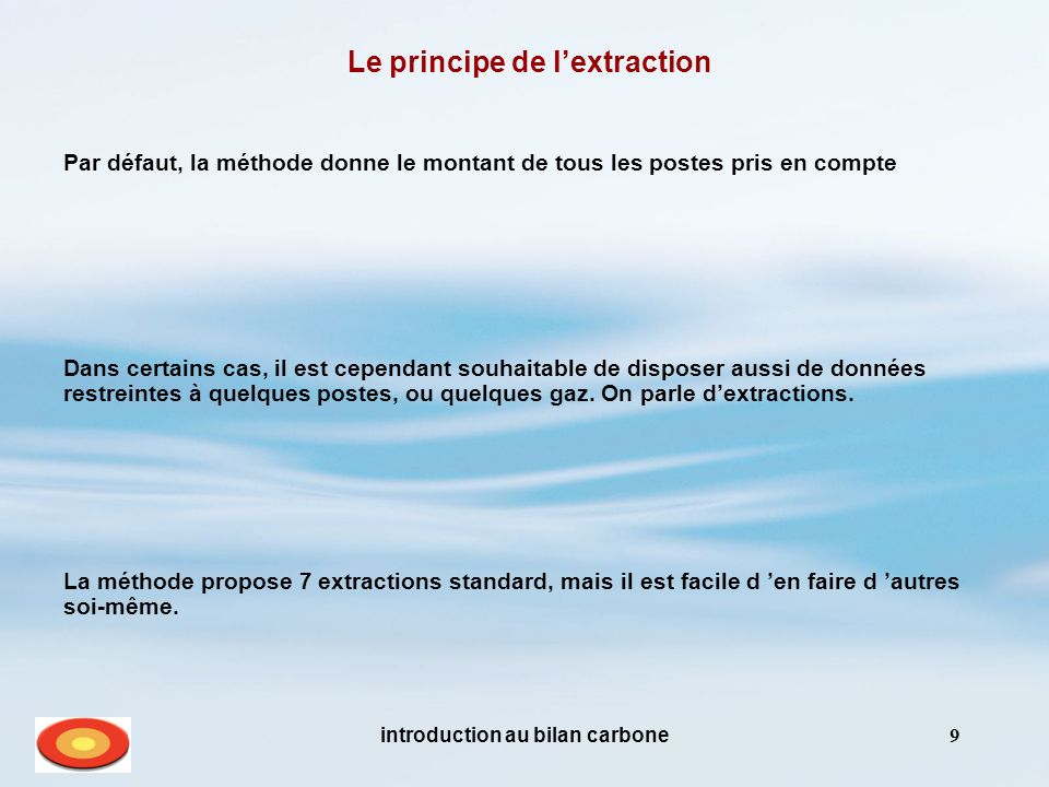 Le principe de l'extraction introduction au bilan carbone