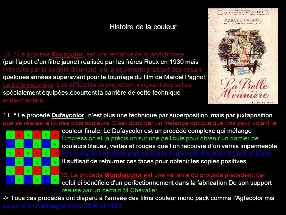 Histoire de la couleur 10. * Le procédé Rouxcolor, est une tentative de quadrichromie.