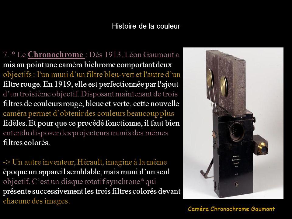 7. * Le Chronochrome : Dès 1913, Léon Gaumont a