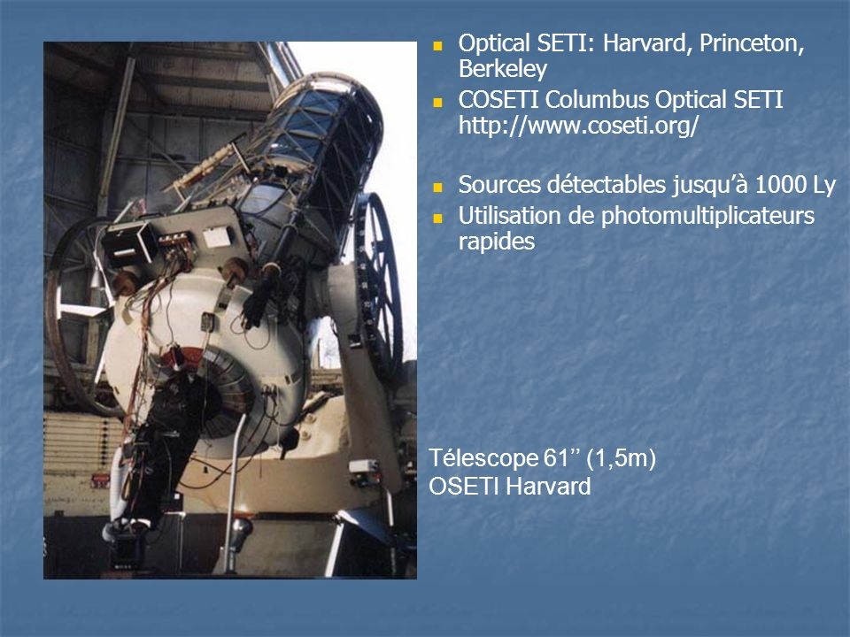 Optical SETI: Harvard, Princeton, Berkeley