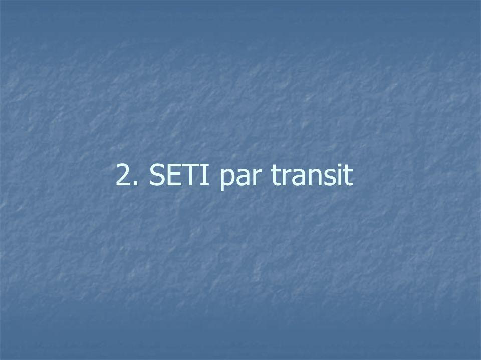 2. SETI par transit