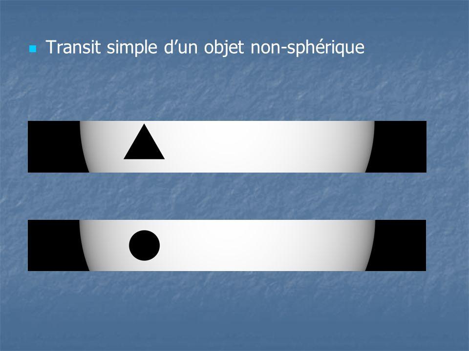 Transit simple d'un objet non-sphérique