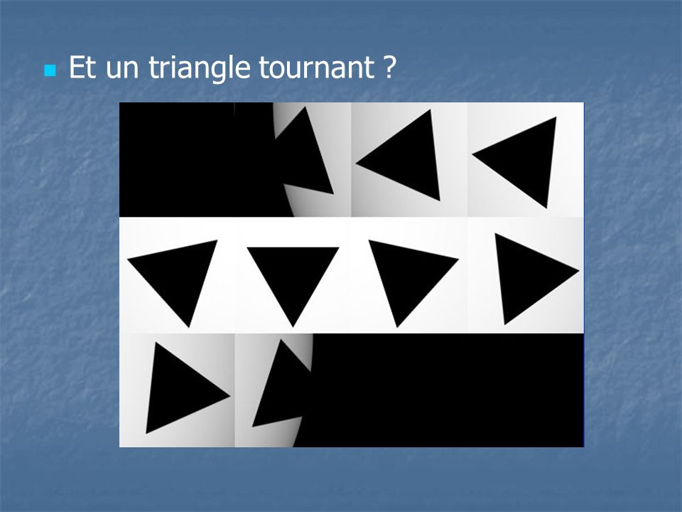 Et un triangle tournant