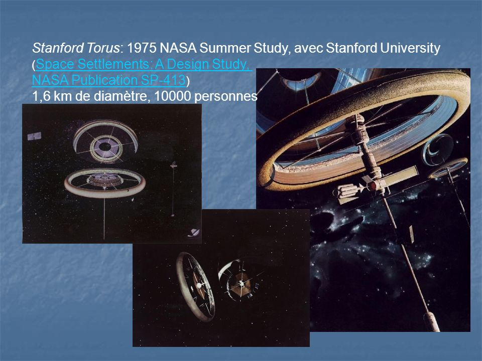 Stanford Torus: 1975 NASA Summer Study, avec Stanford University