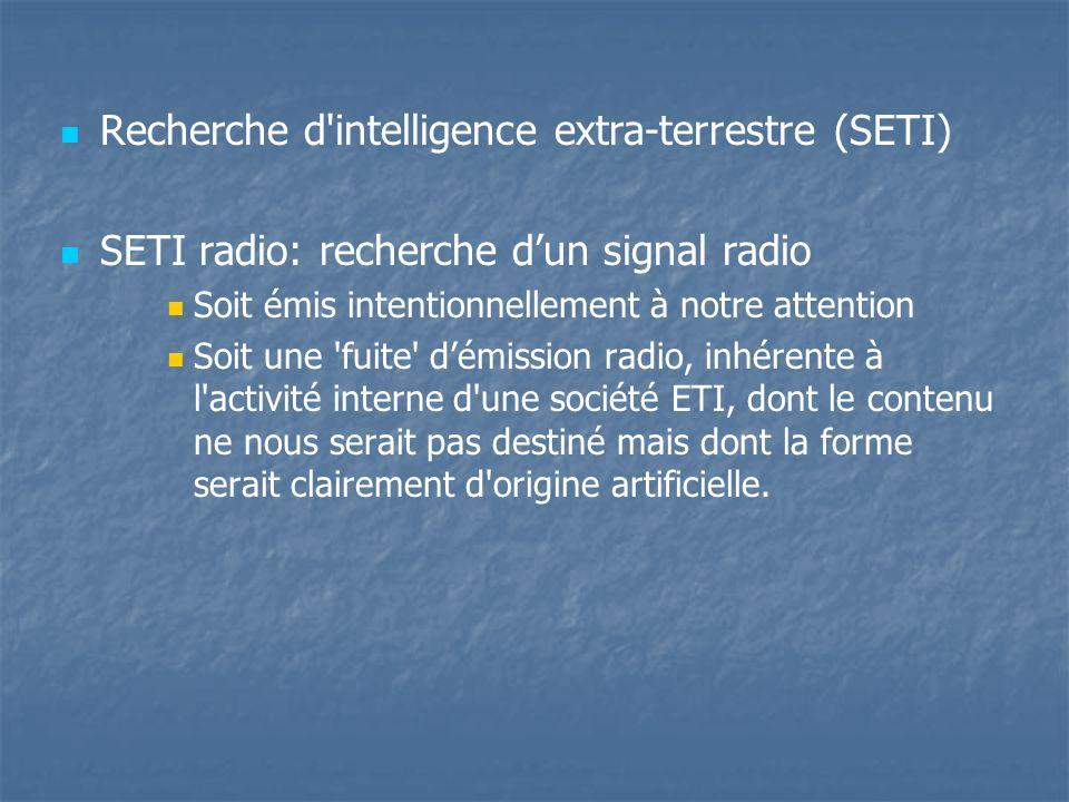 Recherche d intelligence extra-terrestre (SETI)