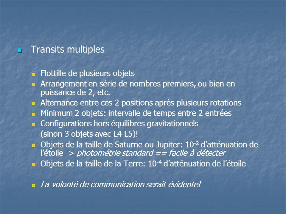 Transits multiples Flottille de plusieurs objets
