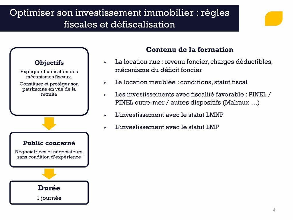 Former accompagner conseiller ppt video online t l charger - Deficit foncier location meublee ...