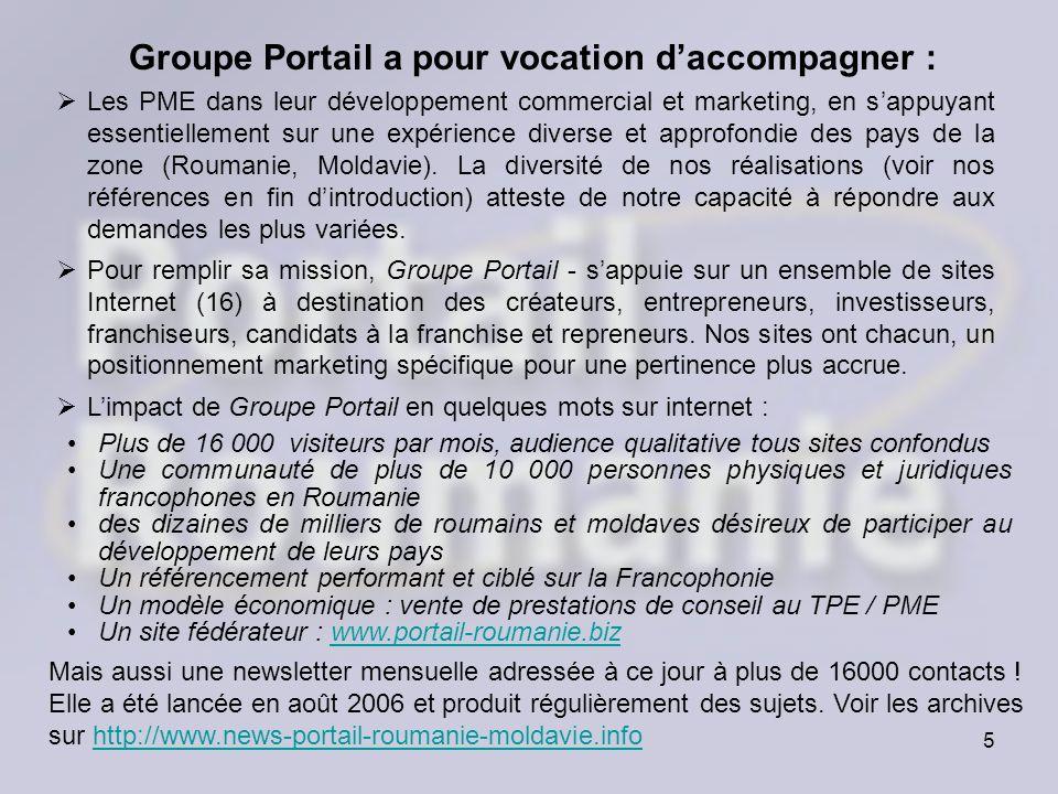 Groupe Portail a pour vocation d'accompagner :