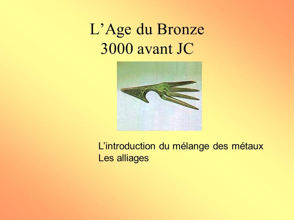 L'Age du Bronze 3000 avant JC