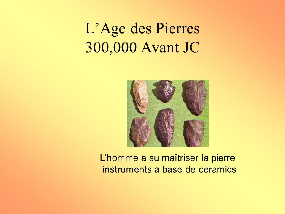 L'Age des Pierres 300,000 Avant JC
