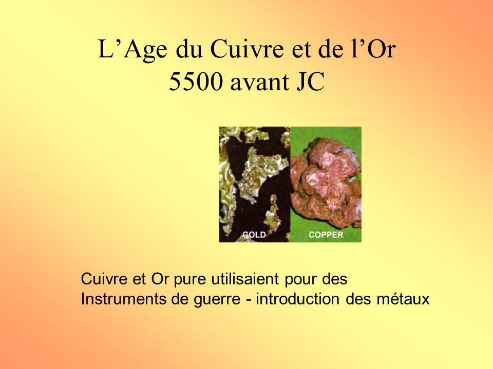 L'Age du Cuivre et de l'Or 5500 avant JC
