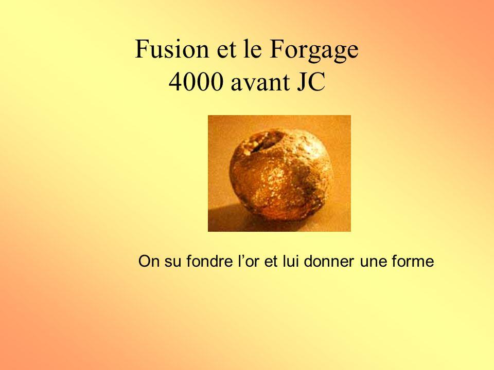Fusion et le Forgage 4000 avant JC