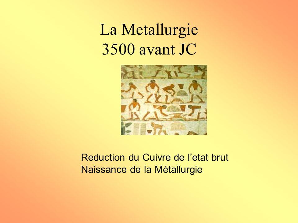 La Metallurgie 3500 avant JC