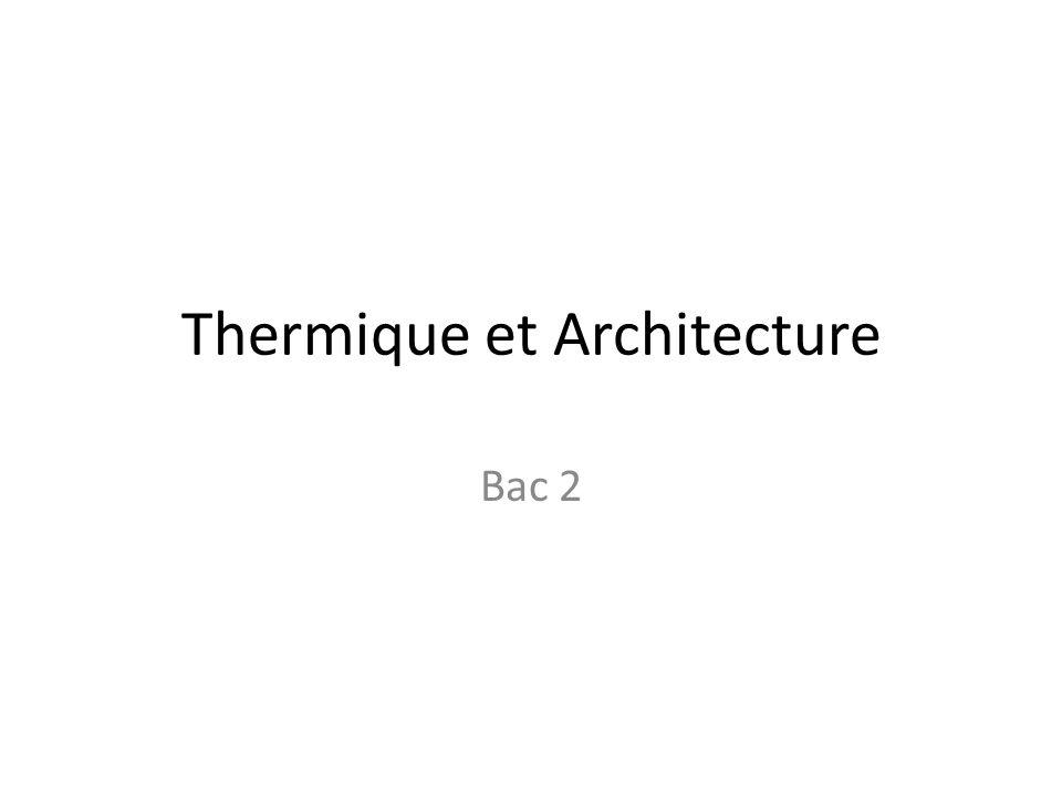 Thermique et Architecture