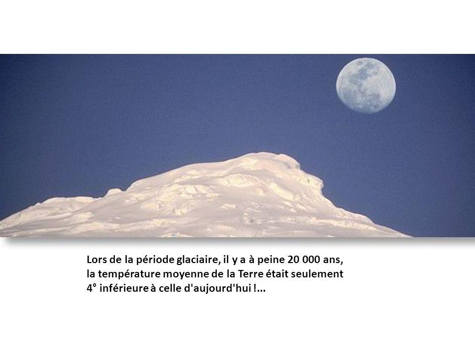 Lors de la période glaciaire, il y a à peine 20 000 ans,