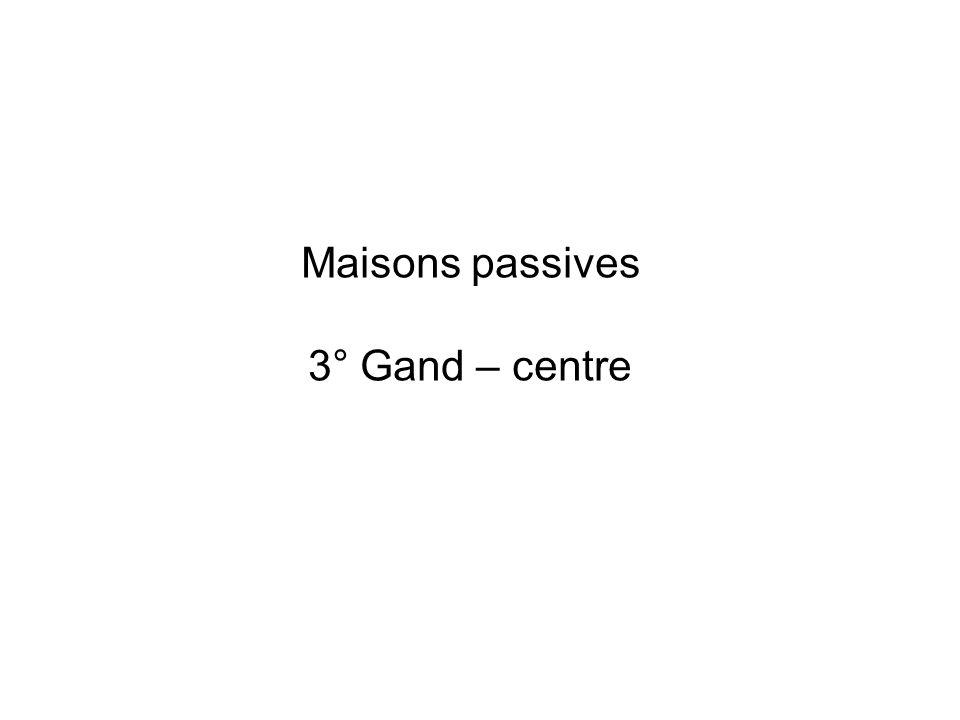 Maisons passives 3° Gand – centre