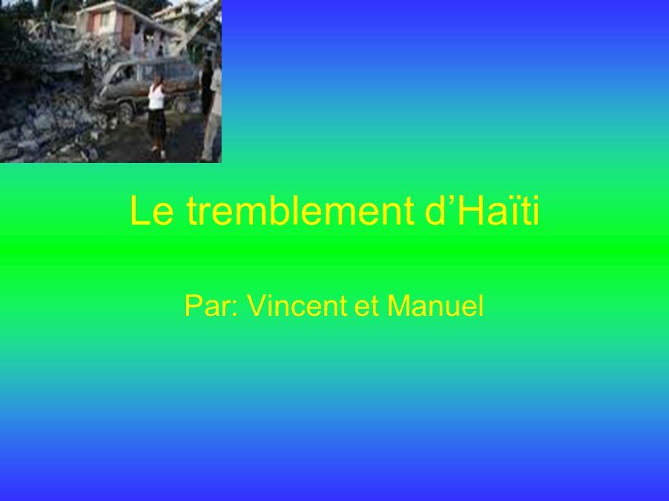 Le tremblement d'Haïti