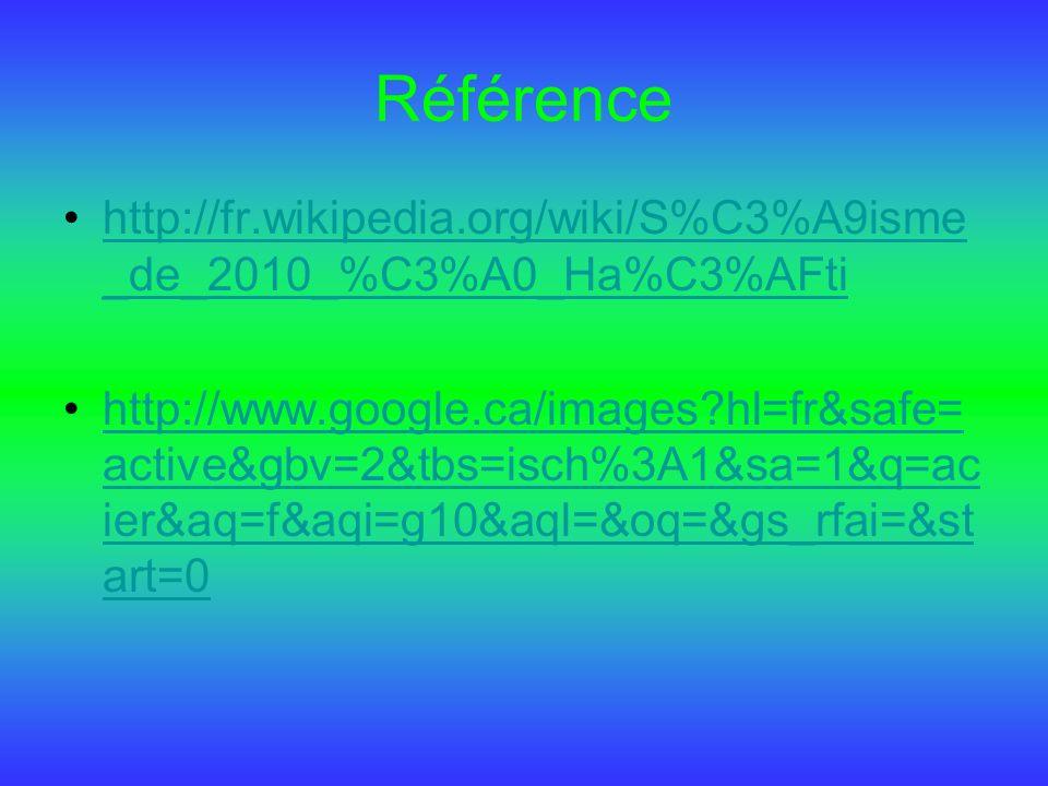 Référence http://fr.wikipedia.org/wiki/S%C3%A9isme_de_2010_%C3%A0_Ha%C3%AFti.