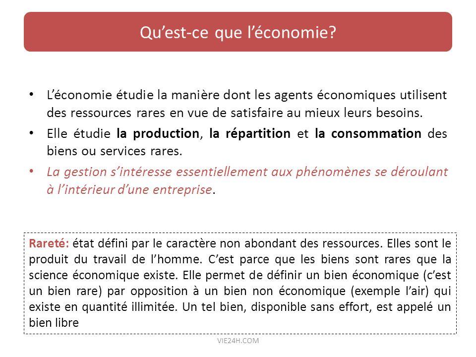 Qu'est-ce que l'économie