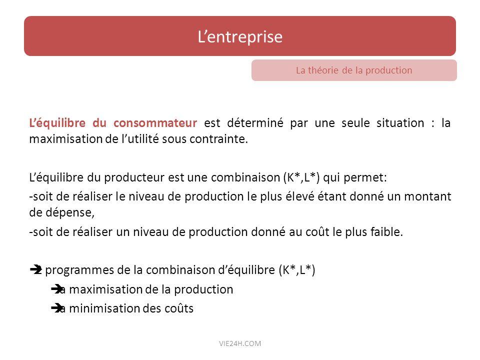 La théorie de la production