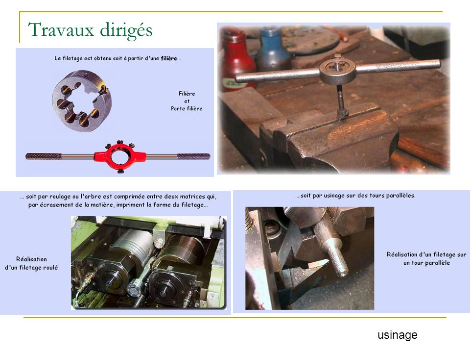 Travaux dirigés usinage