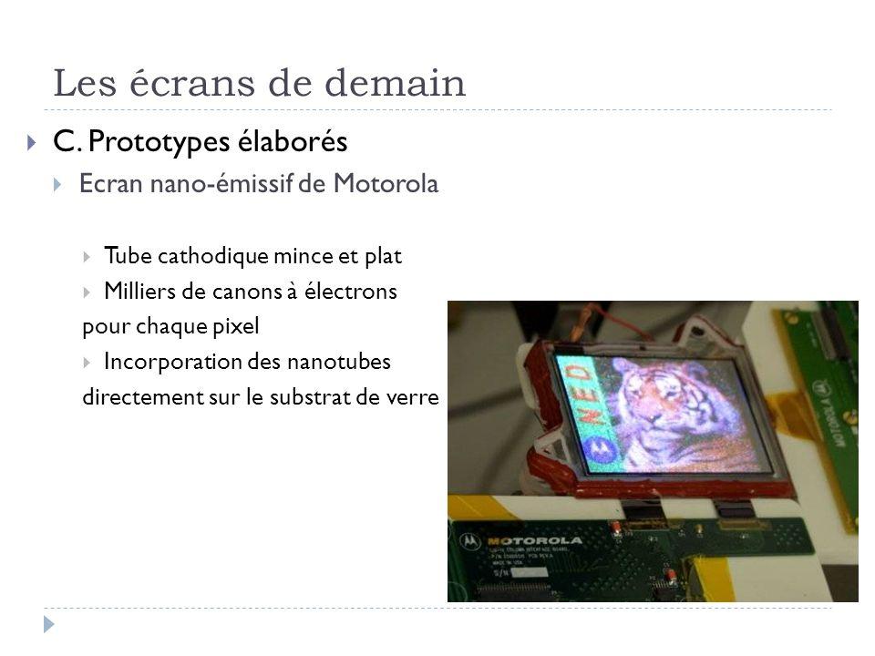 Les écrans de demain C. Prototypes élaborés