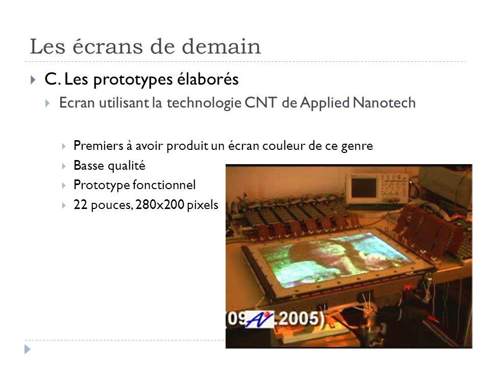 Les écrans de demain C. Les prototypes élaborés