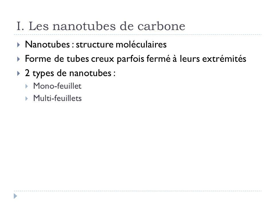 I. Les nanotubes de carbone