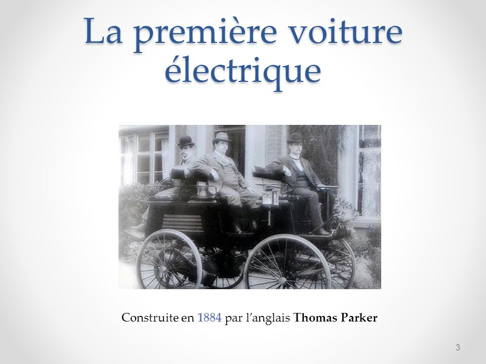 La première voiture électrique