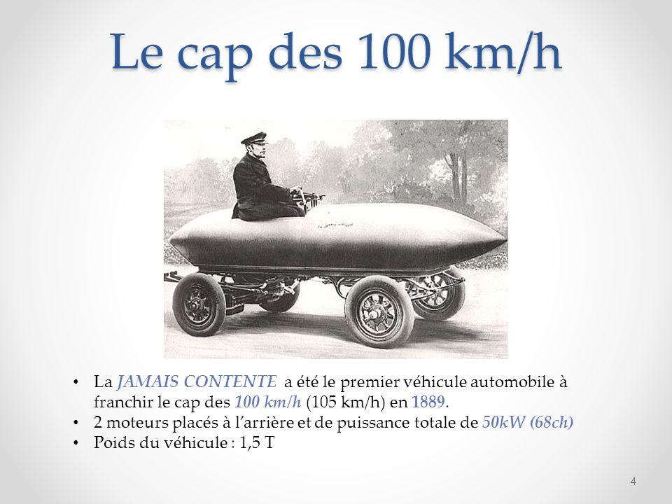 Le cap des 100 km/h