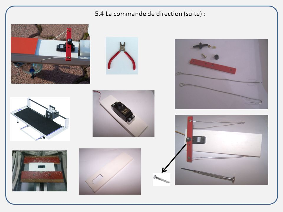5.4 La commande de direction (suite) :