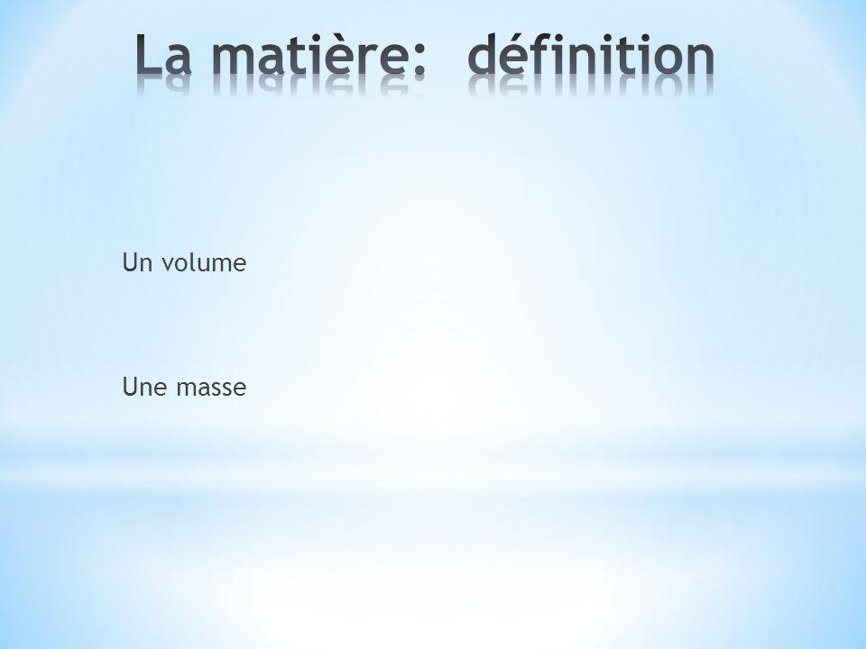 La matière: définition