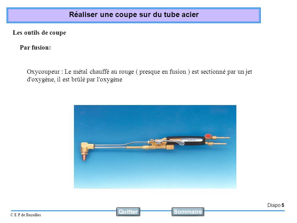 Les outils de coupePar fusion: