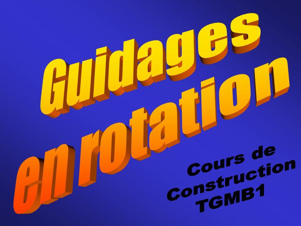 Guidages en rotation Cours de Construction TGMB1