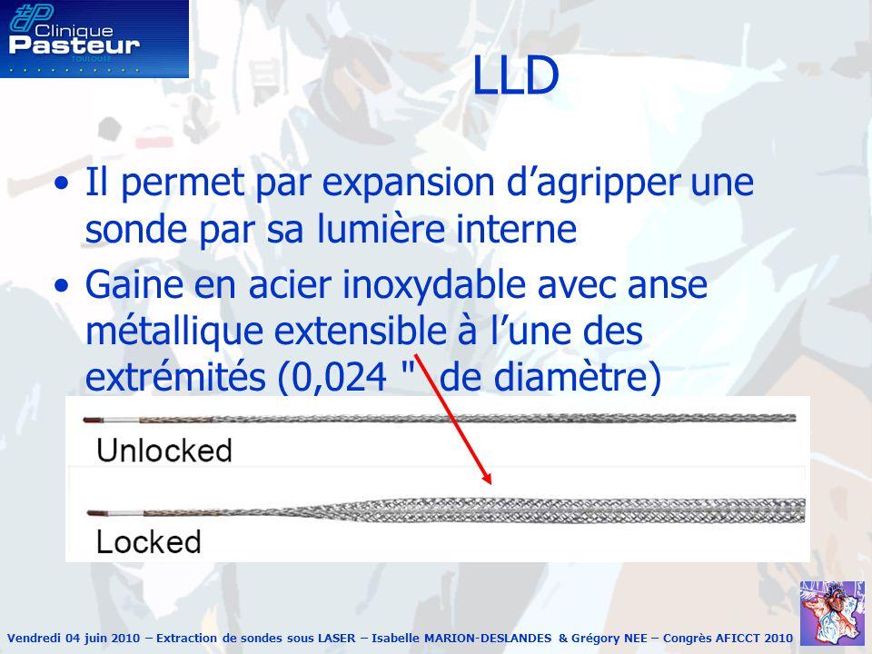 LLD Il permet par expansion d'agripper une sonde par sa lumière interne.