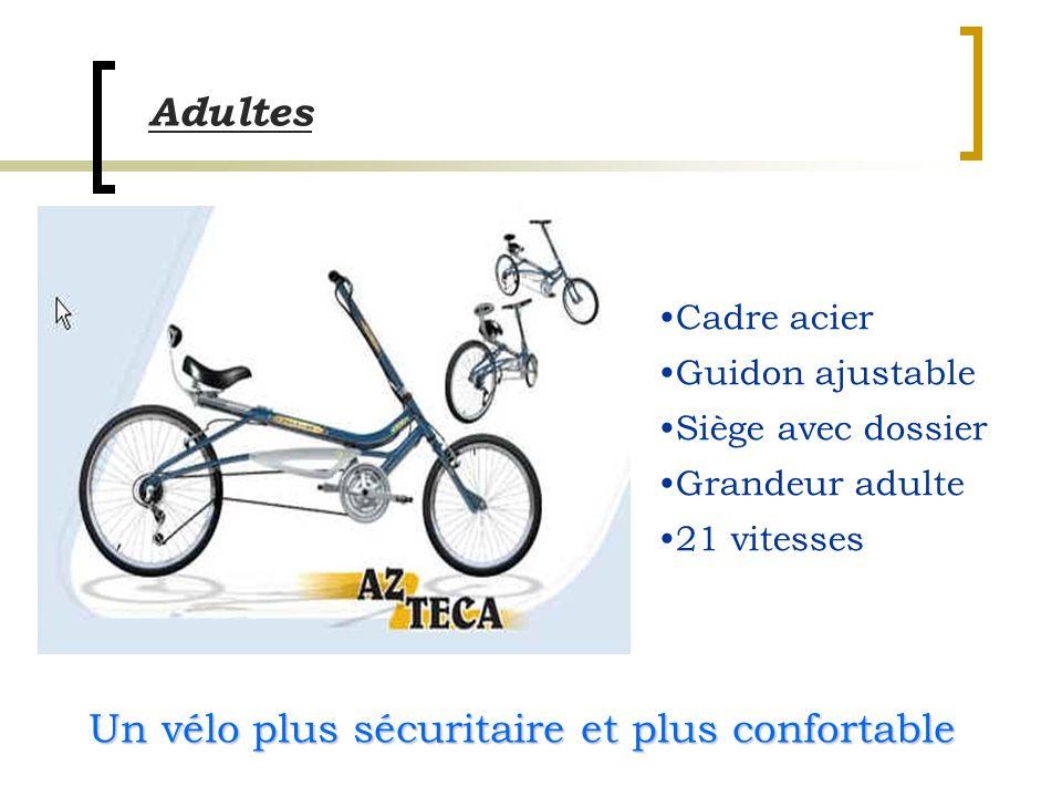 Un vélo plus sécuritaire et plus confortable