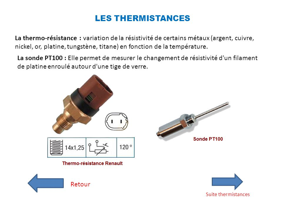 LES THERMISTANCES