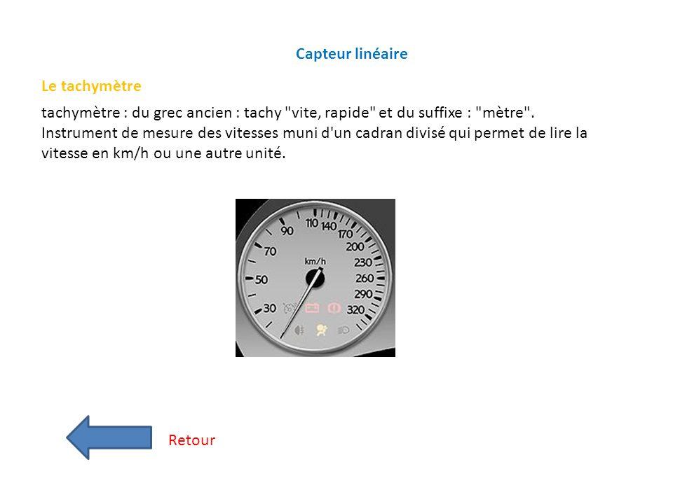 Capteur linéaire Le tachymètre.