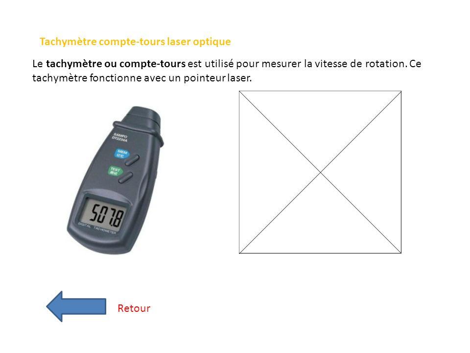 Tachymètre compte-tours laser optique