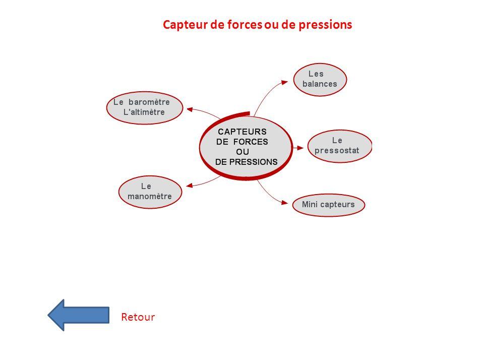 Capteur de forces ou de pressions