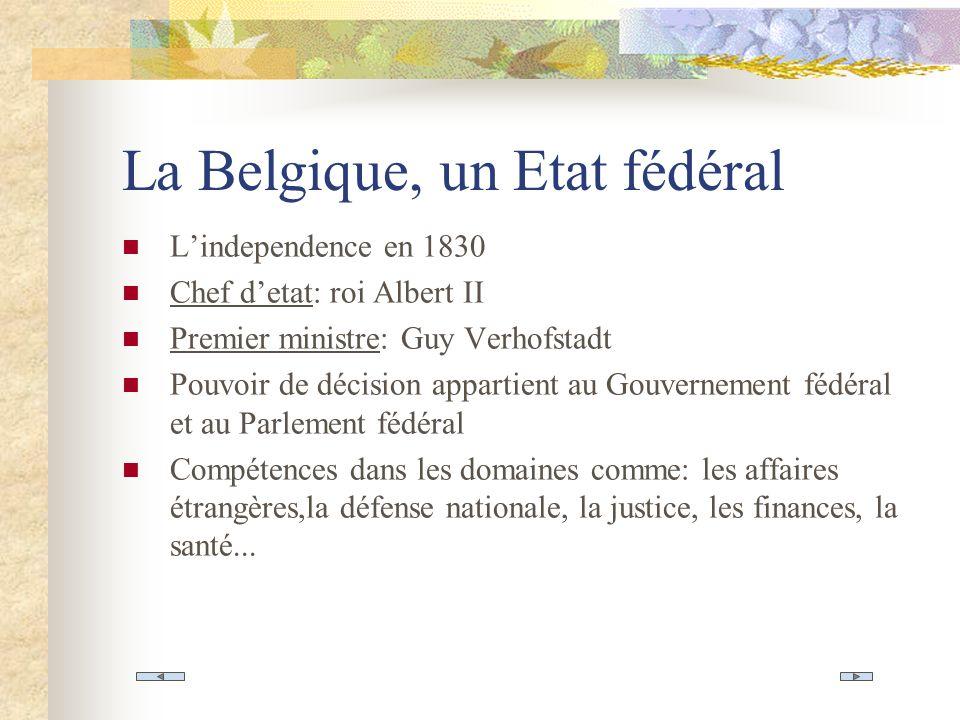 La Belgique, un Etat fédéral