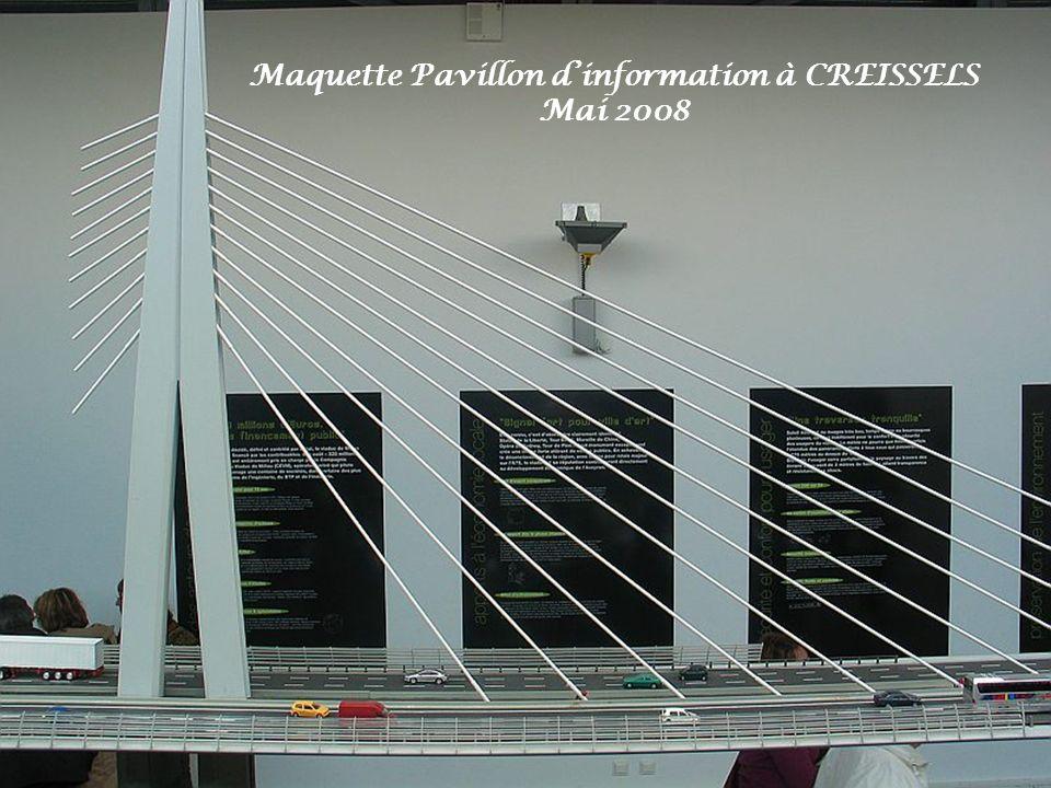 Maquette Pavillon d'information à CREISSELS