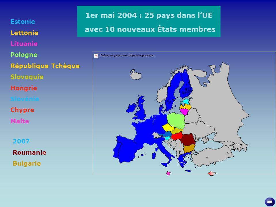avec 10 nouveaux États membres